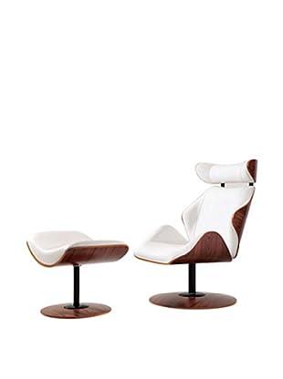 Manhattan Living Luxur Lounge Set, White