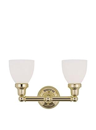 Crestwood Casandra 2-Light Bath Bar, Polished Brass