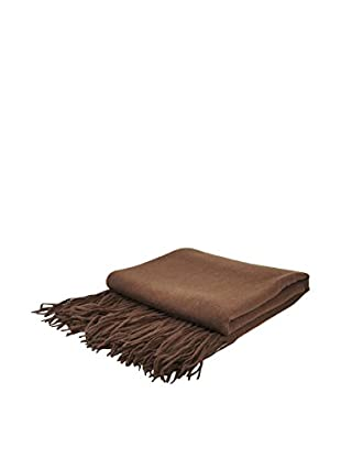 PÜR Cashmere Signature Blend Throw, Chocolate