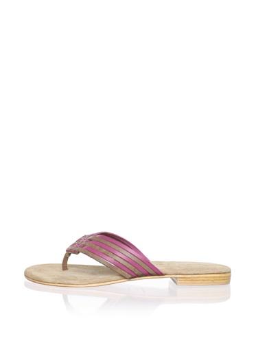 Chocolat Blu Women's Taj Thong Sandal (Pink Combo)