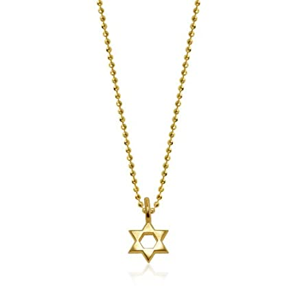 0 925 Sterling Silver And 14k Gold Plated Star Of David Pendant Charm