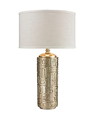 Artistic Lighting 1-Light Table Lamp, Antique Silver Leaf