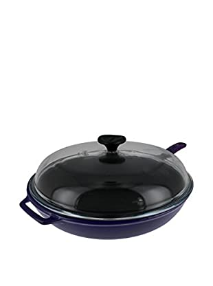 Chasseur Classique 2.4-Qt. Cast Iron Frying Pan with a Glass Lid