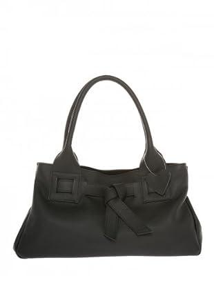 Elysa Tasche aus weichem Leder (Schwarz)