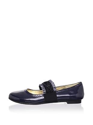 Olivia D. by J. Loren Kids Middle Patent Leather Dress Shoe (Navy)