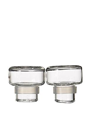 Seletti Si-Bottle Set of 2 Glass Lids, Clear
