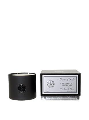 Cali Cosmetics Stromboli (Clean & Crisp) 18-Oz 2-Wick Candle, Black