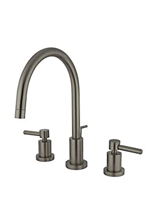 Kingston Brass Widespread Lavatory Faucet With Brass Pop-Up, Satin Nickel