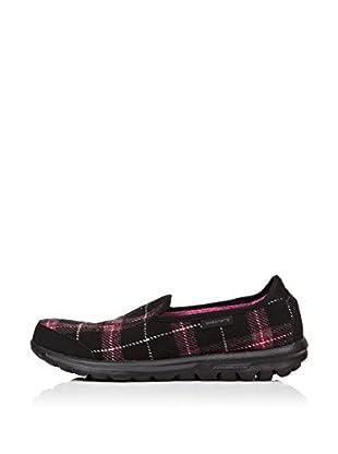 Skechers Zapatillas Go Walk - Sparky (Negro / Rosa)