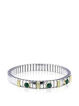 Nomination Armband  silber/goldfarben/grün