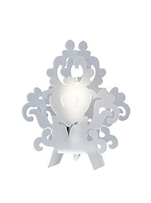 Emporium Tischlampe Satin weiß