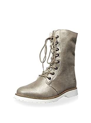 Burnetie Women's Lace-Up Shearling Ankle Boot