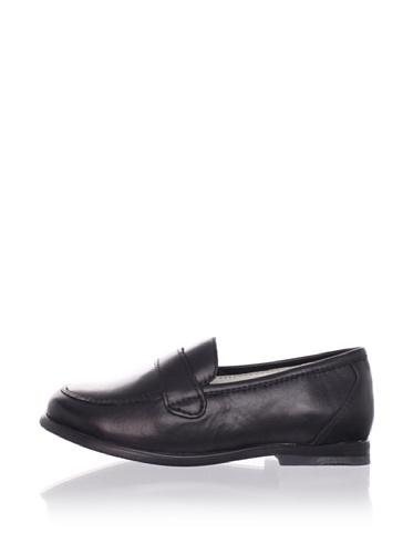 Venettini Kid's Harry Slip-On (Toddler/Little Kid) (Black Leather)