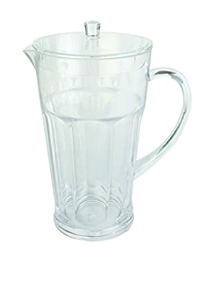 Faceted Acrylic Pitcher, Clear