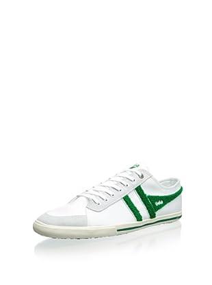 Gola Men's Quota Varsity Classic Low Top Sneaker (White/Green)