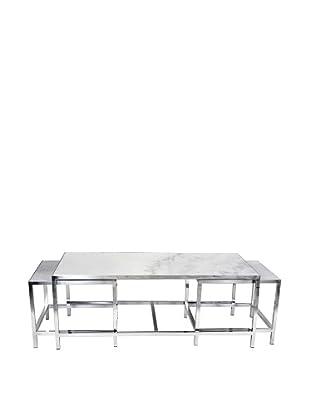 Control Brand The Svendborg Coffee Table Set, White Marble