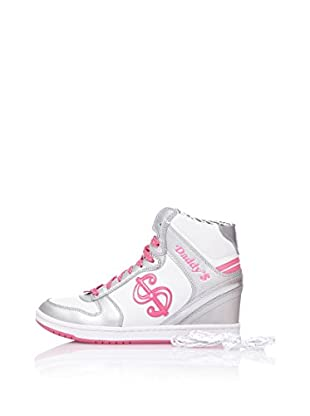 Skechers Botas Moolah (Plata / Blanco / Rosa)