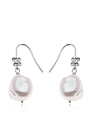 E-GOO Pendientes Fancy oro blanco 18 ct