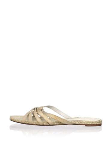 Delman Women's Blair Flat Sandal (Gold)
