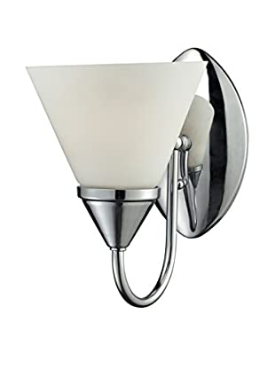 Artistic Lighting 1-Light LED Glass Sconce, Chrome
