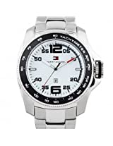 Tommy Hilfiger Tachymeter Analog White Dial Men s Watch - TH1790856J