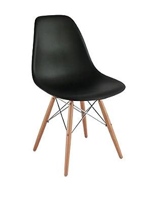 Lo+Demoda Stuhl 2er Set Wooden schwarz