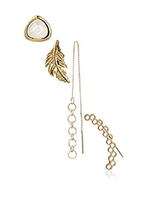 Jules Smith Opal & Feather Earring Set of 4