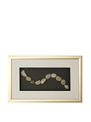 Star Creations White Stones Shadowbox Art