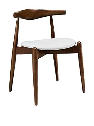 Modway Stalwart Dining Side Chair (Dark Walnut/White)