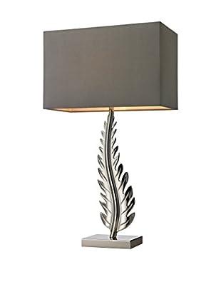 Artistic Lighting Brass Leaf Table Lamp, Polished Nickel