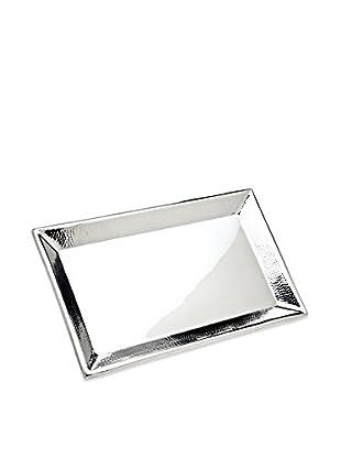 Godinger Hammered Rectangular Tray, Silver