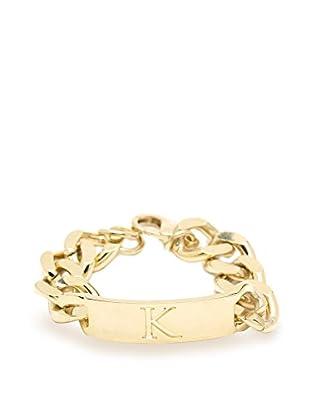 Ettika 18K Gold-Plated K Initial ID Bracelet