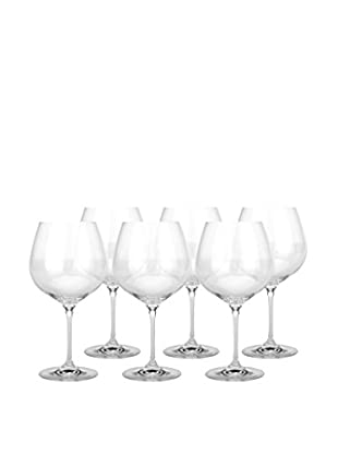 BergHOFF Set of 4 Bistro 20.3-Oz. Burgundy Stem Glasses