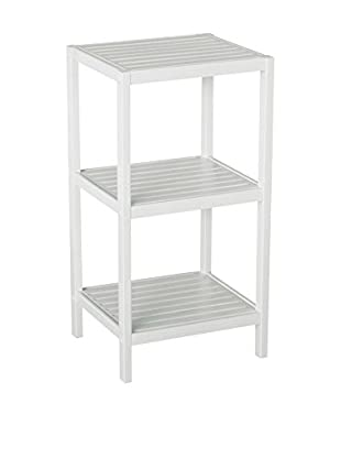 Gallerie Décor Bamboo Natural Spa 3-Shelf Tower, White
