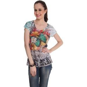 Sportelle USA India Women's Multicoloured T-shirt
