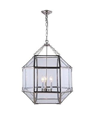 Urban Lights Gordon Medium 3-Light Pendant Lamp, Polished Nickel
