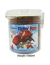 Aquadene-Ruby-Red-1-Liter-Red-Parrot-Flower-Horn-Gold-Food-Aquarium