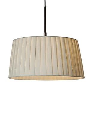 SULION Lámpara color marron 1 luz con pantalla tono crema Marron/Crema