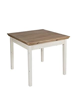 Colonial Style Tisch Lauren weiß/braun