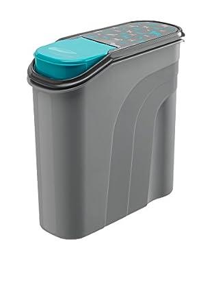 Rotho Behälter für Haustierfutter 4er Set 6 L grau/türkis