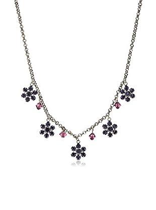 Liz Palacios Crystal Flower Drop Necklace