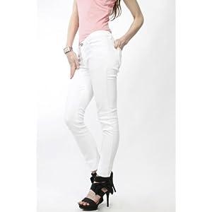 Adam n Eve White Trouser For Women