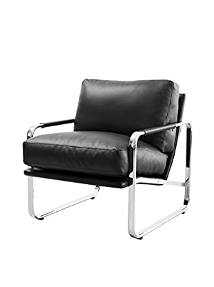 Whiteline Magi Faux Leather Chair, Black