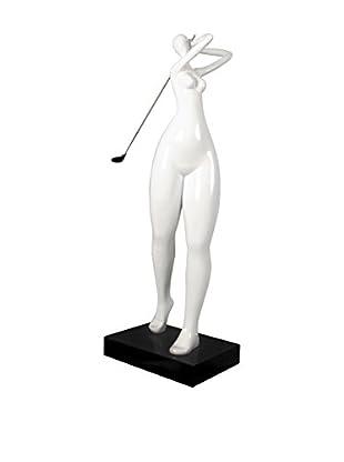 Arte Dal Mondo Figur Giocatrice Di Golf
