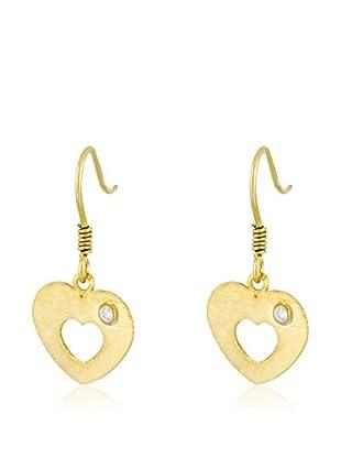 Cordoba Jewels Pendientes plata de ley 925 milésimas bañada en oro