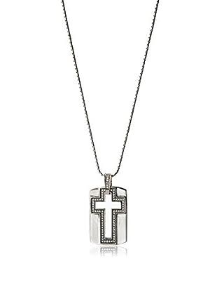 Stephen Oliver Cutout White CZ Cross Necklace