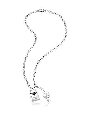 Just Cavalli Collar Just Lock Plateado / Negro