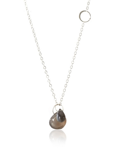 Melissa Joy Manning Grey Moonstone & Labradorite Pendant Necklace