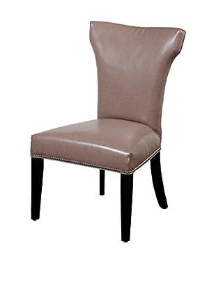 Bassett Mirror Company Nelson Shaped Nailhead Parsons Chair, Taupe