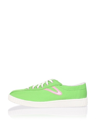 Tretorn Women's Nylite Canvas Sneaker (Vibrant Green/Pink)